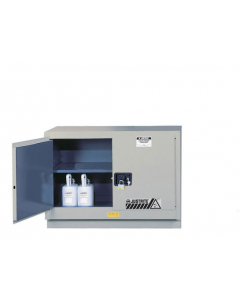 ChemCor® Under Fume Hood Corrosives/Acids Safety Cabinet, 31 gallon, 2 Manual-Close Doors, Silver - #8849042