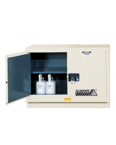 ChemCor® Under Fume Hood Corrosives/Acids Safety Cabinet, 31 gallon, 2 Manual-Close Doors, Light Neutral - #8849072