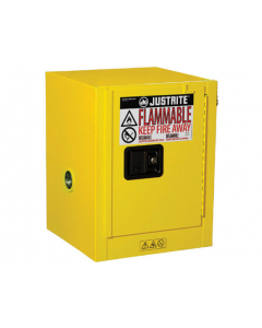 Sure-Grip® EX Countertop Flammable Safety Cabinet, 4 gallon, 1 manual close door, Yellow - #890400