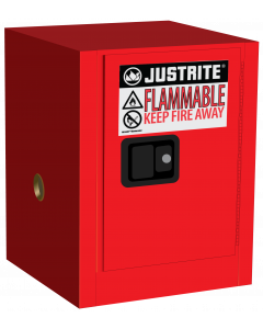 4 gallon Red Countertop Flammable Safety Cabinet, 1 Manual Close Door - Sure-Grip® EX - #890401