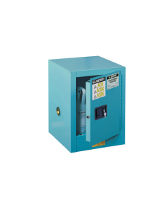 Sure-Grip® EX Countertop Corrosives/Acid Steel Safety Cabinet, 4 gallon, 1 manual close door, Blue - #890402
