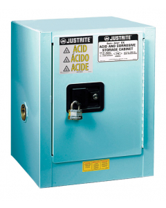 ChemCor® Countertop Corrosives/Acids Safety Cabinet, 4 gallon, 1 Manual-Close Door, Blue - #8904022