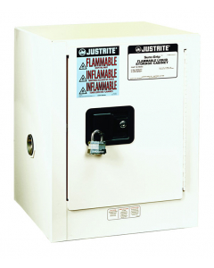 Sure-Grip® EX Countertop Flammable Safety Cabinet, 4 gallon, 1 manual close door, White - #890405