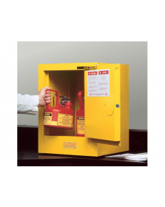 Sure-Grip® EX Countertop Flammable Safety Cabinet, 4 gallon, 1 self-close door, Yellow - #890420