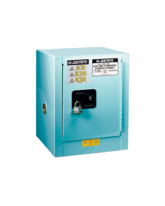 ChemCor® Countertop Corrosives/Acids Safety Cabinet, 4 gallon, 1 Self-Close Door, Blue - #8904222