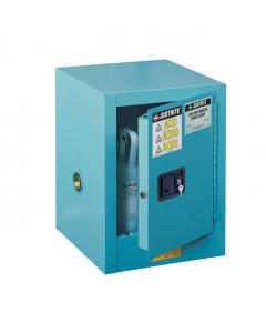 Sure-Grip® EX Countertop Corrosives/Acid Steel Safety Cabinet, 4 gallon, 1 self-close door, Blue - #890422