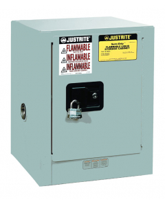 Sure-Grip® EX Countertop Flammable Safety Cabinet, 4 gallon, 1 self-close door, Gray - #890423
