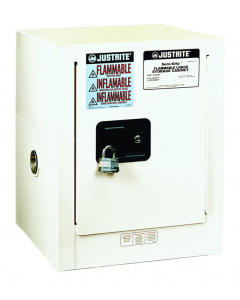 Sure-Grip® EX Countertop Flammable Safety Cabinet, 4 gallon, 1 self-close door, White - #890425