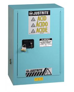 ChemCor® Compac Corrosives/Acids Safety Cabinet, 12 gallon, 1 Manual-Close Door, Blue - #8912022