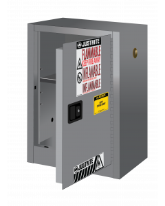 Sure-Grip® EX Compac Flammable Safety Cabinet, 12 gallon, 1 manual close door, Gray - #891203