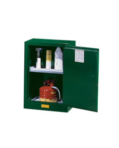 Sure-Grip® EX Compac Pesticides Safety Cabinet, 12 gallon, 1 manual close door, Green - #891204