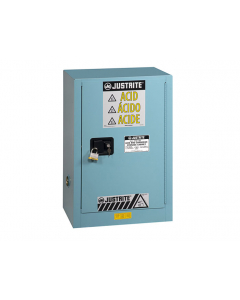 Sure-Grip® EX Compac Corrosives/Acid Steel Safety Cabinet, 12 gallon, 1 self-close door, Blue - #891222