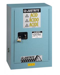 ChemCor® Compac Corrosives/Acids Safety Cabinet, 12 gallon., 1 Self-Close Door, Blue - #8912222