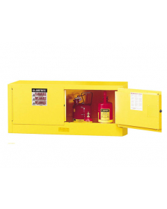 Sure-Grip® EX Piggyback Flammable Safety Cabinet, 12 gallon, 2 manual-close doors, Yellow - #891300