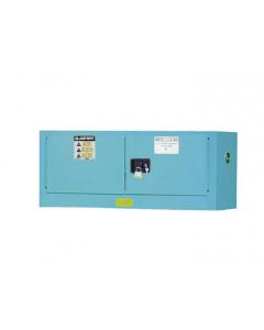 ChemCor® Piggyback Corrosives/Acids Safety Cabinet, 12 gallon, 2 Manual-Close Doors, Blue - #8913022