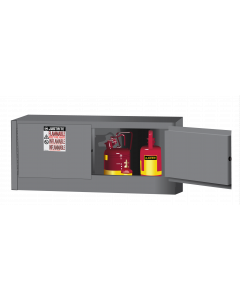 Sure-Grip® EX Piggyback Flammable Safety Cabinet, 12 gallon, 2 manual-close doors, Gray - #891303
