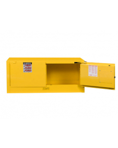 Sure-Grip® EX Piggyback Flammable Safety Cabinet, 12 gallon, 2 self-close doors, Yellow - #891320