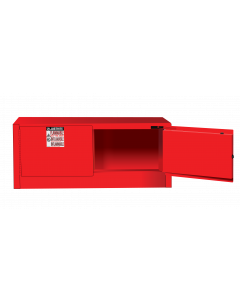 Sure-Grip® EX Piggyback Flammable Safety Cabinet, 12 gallon, 2 self-close doors, Red - #891321