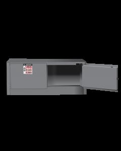Sure-Grip® EX Piggyback Flammable Safety Cabinet, 12 gallon, 2 self-close doors, Gray - #891323