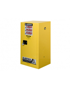 Sure-Grip® EX Compac Flammable Safety Cabinet, 15 gallon, 1 manual close door, Yellow - #891500