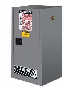 15 gallon Gray Compac Flammable Safety Cabinet, 1 Manual Close Door - Sure-Grip® EX - #891503