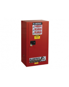 Sure-Grip® EX Combustibles Safety Cabinet for paint and ink, 20 gallon, 1 manual close door, Red - #891511