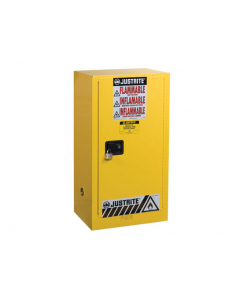 15 gallon Yellow Compac Flammable Safety Cabinet, 1 Self-Close Door - Sure-Grip® EX - #891520