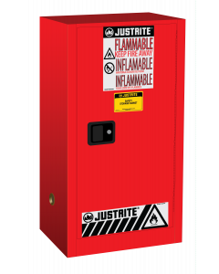 15 gallon Red Compac Flammable Safety Cabinet, 1 Self-Close Door - Sure-Grip® EX - #891521