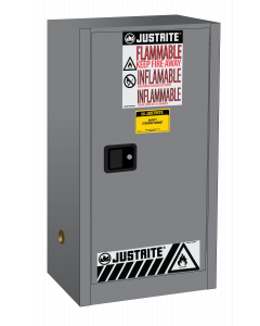 15 gallon Gray Compac Flammable Safety Cabinet, 1 Self-Close Door - Sure-Grip® EX - #891523
