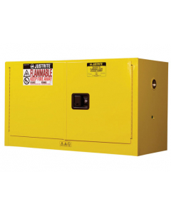 Sure-Grip® EX Piggyback Flammable Safety Cabinet, 17 gallon, 2 manual close doors, Yellow - #891700