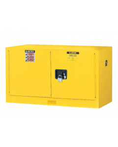 17 gallon Yellow Wall Mount Flammable Safety Cabinet, 2 Manual Close Doors - Sure-Grip® EX - #8917008