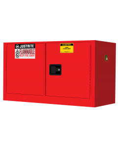 Sure-Grip® EX Piggyback Flammable Safety Cabinet, 17 gallon, 2 manual close doors, Red - #891701