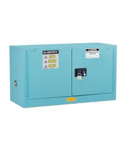 ChemCor® Piggyback Corrosives/Acids Safety Cabinet, 17 gallon, 2 Manual-Close Doors, Blue - #8917022
