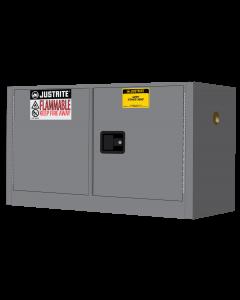 Sure-Grip® EX Piggyback Flammable Safety Cabinet, 17 gallon, 2 manual close doors, Gray - #891703