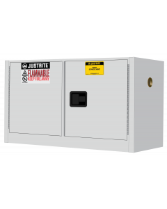 Sure-Grip® EX Piggyback Flammable Safety Cabinet, 17 gallon, 2 manual close doors, White - #891705