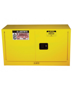 Sure-Grip® EX Piggyback Flammable Safety Cabinet, 17 gallon, 2 self-close doors, Yellow - #891720