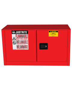Sure-Grip® EX Piggyback Flammable Safety Cabinet, 17 gallon, 2 self-close doors, Red - #891721