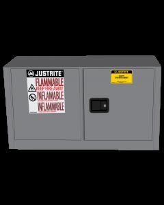 Sure-Grip® EX Piggyback Flammable Safety Cabinet, 17 gallon, 2 self-close doors, Gray - #891723