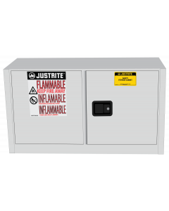 Sure-Grip® EX Piggyback Flammable Safety Cabinet, 17 gallon, 2 self-close doors, White - #891725