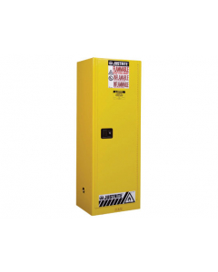 Sure-Grip® EX Slimline Flammable Safety Cabinet, 22 gallon, 1 manual close doors, Yellow
