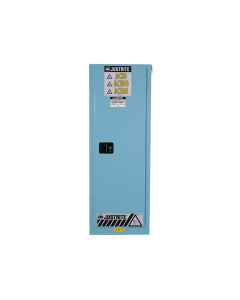 Sure-Grip® EX Slimline Corrosives/Acid Steel Safety Cabinet, 22 gallon, 1 manual close doors, Blue - #892202