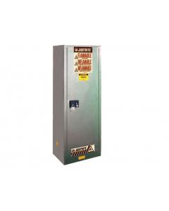 22 gallon Gray Flammable Safety Cabinet, Slimline, 1 Manual Close Door - Sure-Grip® EX- #892203