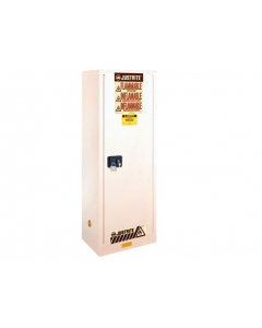 22 gallon White Flammable Safety Cabinet, Slimline, 1 Manual Close Door - Sure-Grip® EX- #892205