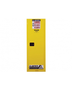 22 gallon Yellow Slimline Flammable Safety Cabinet, 1 Self-Close Door - Sure-Grip® EX- #892220