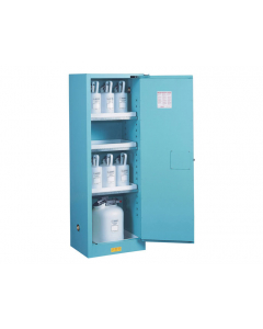 Sure-Grip® EX Slimline Corrosives/Acid Steel Safety Cabinet, 22 gallon, 1 self-close doors, Blue - #892222
