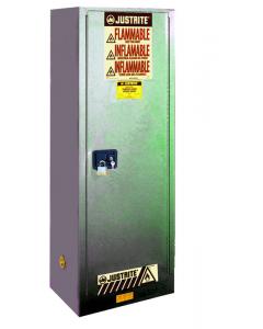 22 gallon Gray Slimline Flammable Safety Cabinet, 1 Self-Close Door - Sure-Grip® EX- #892223