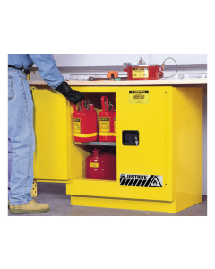22 gallon Yellow Undercounter Flammable Safety Cabinet, 2 Manual Close Doors - Sure-Grip® EX - #892300