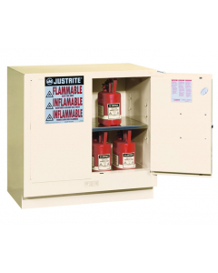 22 gallon White Undercounter Flammable Safety Cabinet, 2 Manual Close Doors - Sure-Grip® EX - #892305