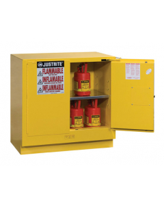 22 gallon Yellow Undercounter Flammable Safety Cabinet, 2 Self-Close Doors - Sure-Grip® EX - #892320