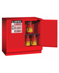 22 gallon Red Undercounter Flammable Safety Cabinet, 2 Self-Close Doors - Sure-Grip® EX - #892321